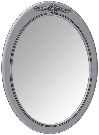 Vertical Oval Mirror