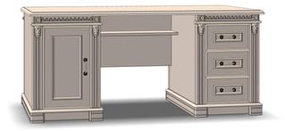 3 Drawer 1 Door Office Desk