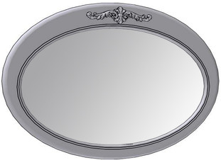 Horizontal Oval Mirror