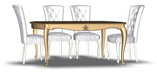 Folding dining table 6M