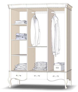 Wardrobe 3D3Sh