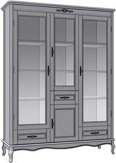 4 Door 3 Drawer Cupboard (veneered sides)