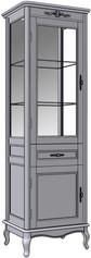 2 Door 1 Drawer Cupboard (glass sides)