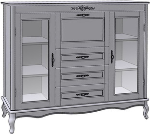 3 Drawer 3 Door Bar Chest