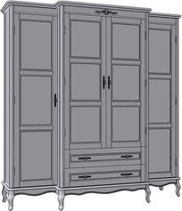 4 Door 2 Drawer Wardrobe