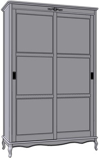 2 Sliding Doors Wardrobe