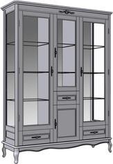 4 Door 3 Drawer Cupboard (glass sides)