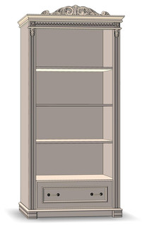 1 Drawer Bookcase open 80
