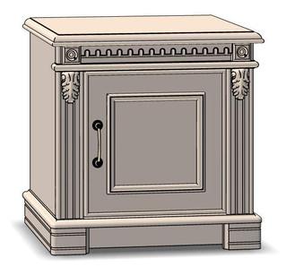 1 Door Nightstand