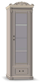 1 Drawer 1 Door Cupboard 50 (veneered sides)