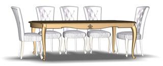 Folding dining table 8M