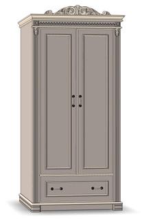 2 Door 1 Drawer Wardrobe - К40 (shelves)