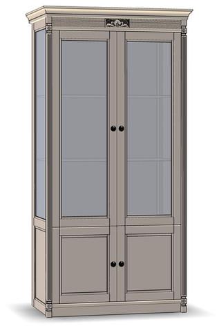 4 Door Cupboard (glass sides)