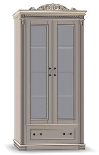 2 Door 1 Drawer Cupboard 80 (veneered sides)