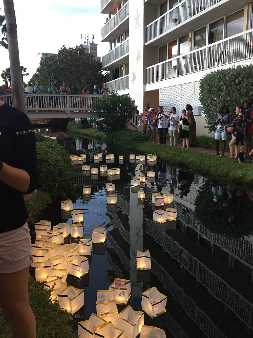 Floating paper lantern ceremony
