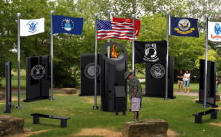 """""""First-of-its-kind memorial to honor veterans lost to PTSD"""" news article"""