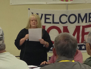 Dane's mother, Donnamarie tells his story today at the Vietnam Veterans of America chapter 542 in Ha