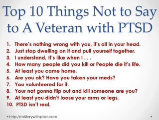 10 Things Not to Say to a Veteran with PTSD
