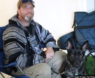 """""""Service Dog Raven helps Vet deal with PTSD"""" article"""