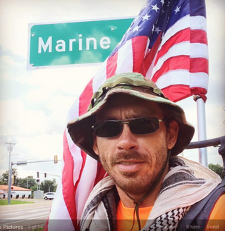 """""""Man walking 6,200 miles for PTSD awareness"""" article"""