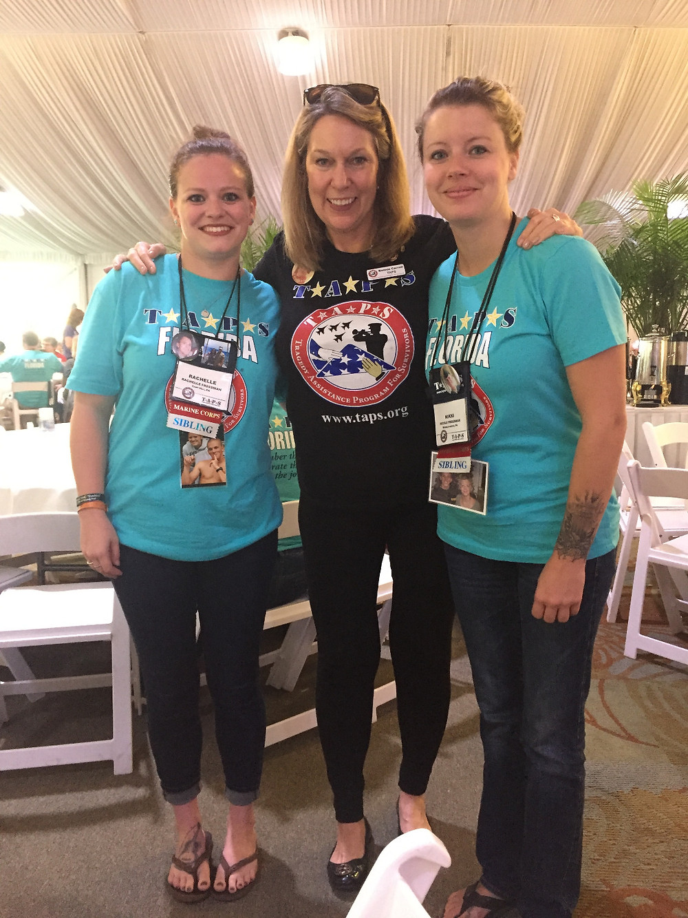 With Bonnie Carroll, founder of TAPS