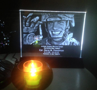 Our Candle Lit in Memory of Cpl Dane Freedman