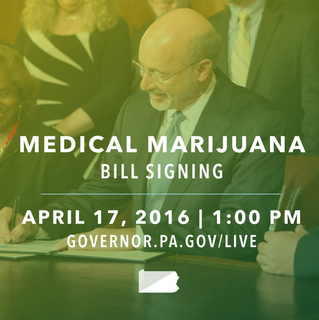 Governor Wolf to sign Medical Cannabis bill into law today