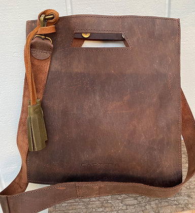 Clutch / Crossbody, Brown (distressed leather)