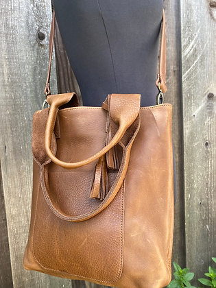 Shoulder bag AND a crossbody, Brown leather