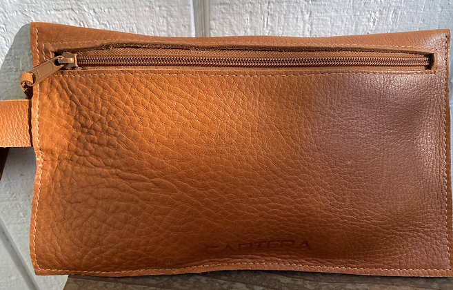Clutch,  Tan leather