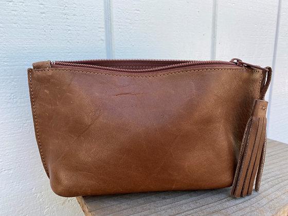 Small clutch, Brown (zipper)