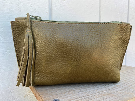 Small clutch, Olive green (zipper)