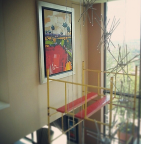 Scaffolding services available for those hard to reach areas in your residence or office. Alberta Art Installation
