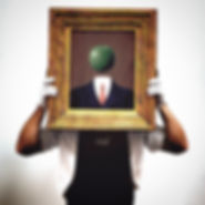 that's Gordon R. Johnston behind that Magritte
