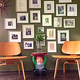 ray charles white, tom slaughter, photo composition, eames chairs, fine art arrangement, art installation