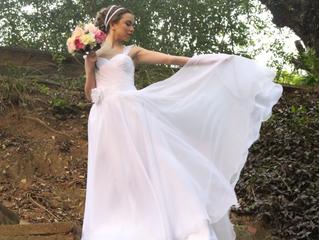 Noiva PRINCESA MINIMALISTA, pura poesia! - Vestido Ana Arantes