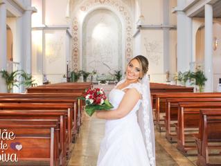 Noiva BELA, RECATADA, e pra casar! - Vestido Thais Ponso