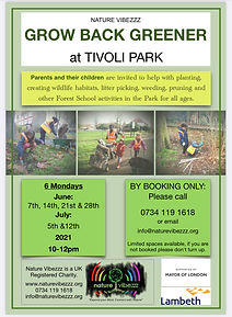 Families Outdoor free sessions