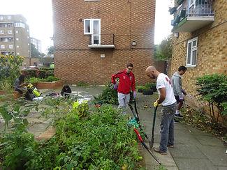 Corporate volunteering day in Streatham.