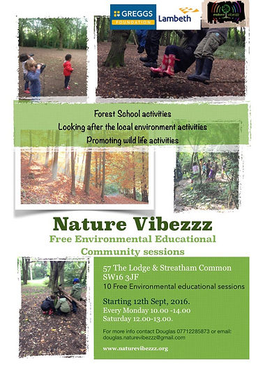 Environmental Sessions Forest School sessions Streatham Common