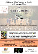Free Forest School for families at Hills