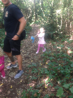 father daughter in the woods