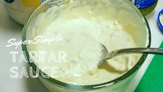 Completed Tarter Sauce with a spoon