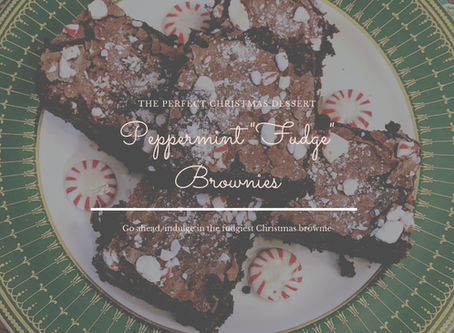 "Peppermint ""Fudge"" Brownies"