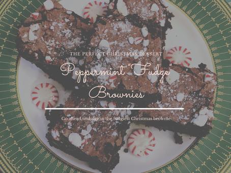 """Peppermint """"Fudge"""" Brownies"""