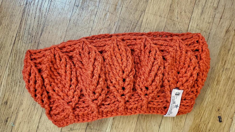 Birch Leaf Ear Warmer Crochet Pattern
