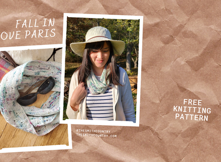 Fall in Love with Paris Infinity Scarf Knit Pattern