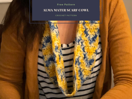 Free Pattern: Alma Mater Scarf-Cowl