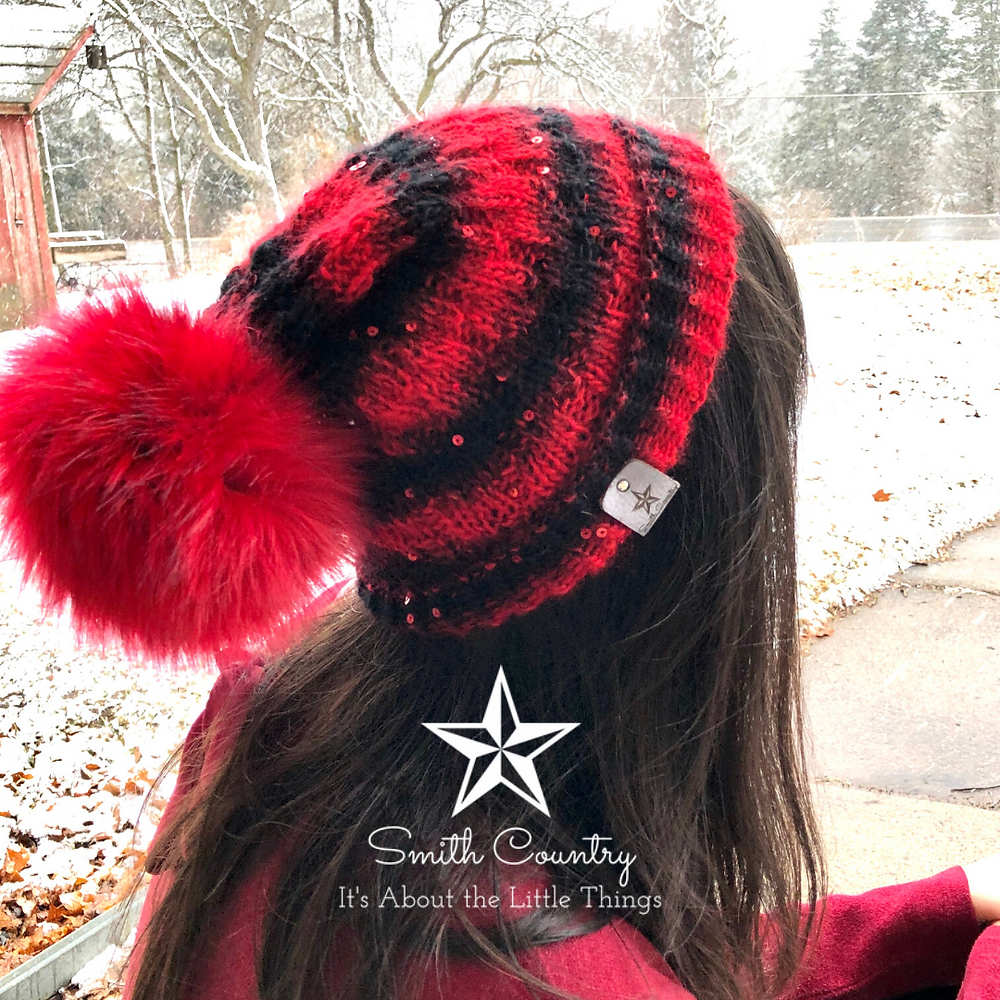 An image of the hat being worn by creator Jenn Smith from the back.