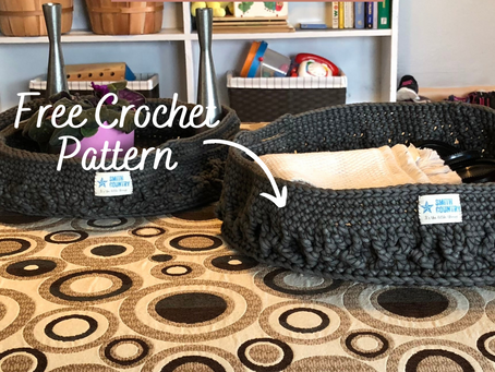 Free Pattern: The Large Crochet Tray Basket